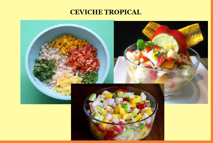 lobster ceviche sweet corn ceviche tropical ceviche ceviche was ready ...